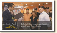 "Mayor Taveras Proclaims October 24th – 28th, 2011 ""LaSalle Bakery Week"" in city of Providence"